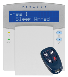 alarm system keypad and keyfob